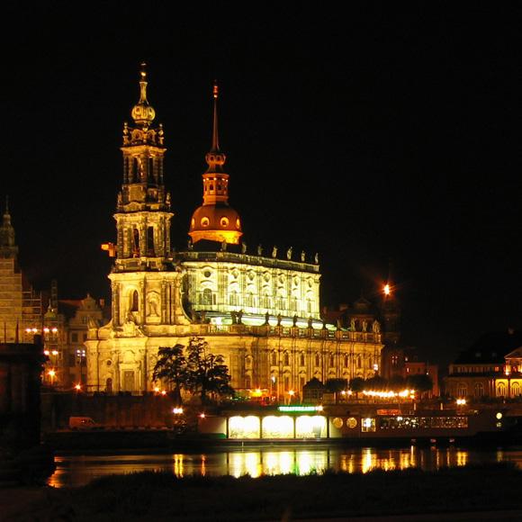 Dresden Nacht Panorama