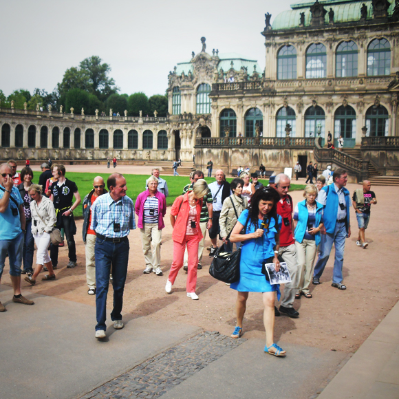 Walk through Dresden with internal inspection of the Frauenkirche and the Zwinger