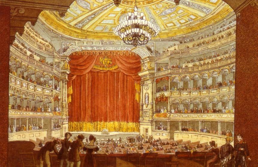 Das alte Dresdner Hoftheater