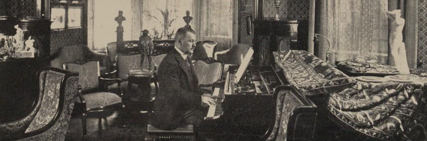 Franz Lehár in seiner Wiener Wohnung 1918